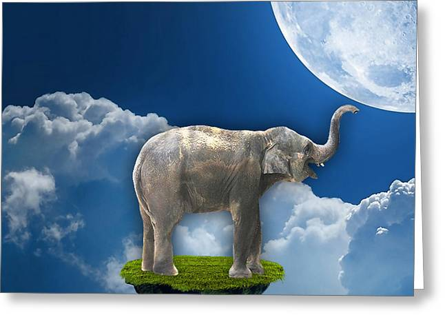 Nature Greeting Cards - Flight Of The Elephant Greeting Card by Marvin Blaine