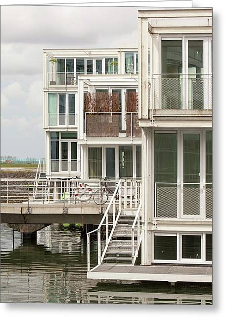 Floating House In Amsterdam Greeting Card by Ashley Cooper