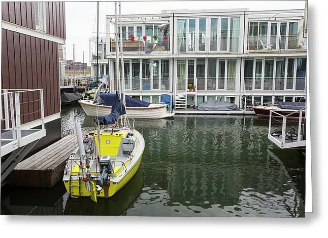 Floating Houses In Amsterdam Greeting Card by Ashley Cooper