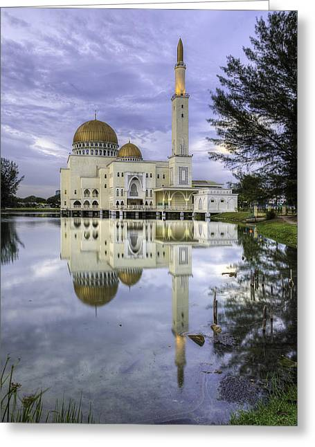 Mario Legaspi Greeting Cards - Floating Mosque Greeting Card by Mario Legaspi