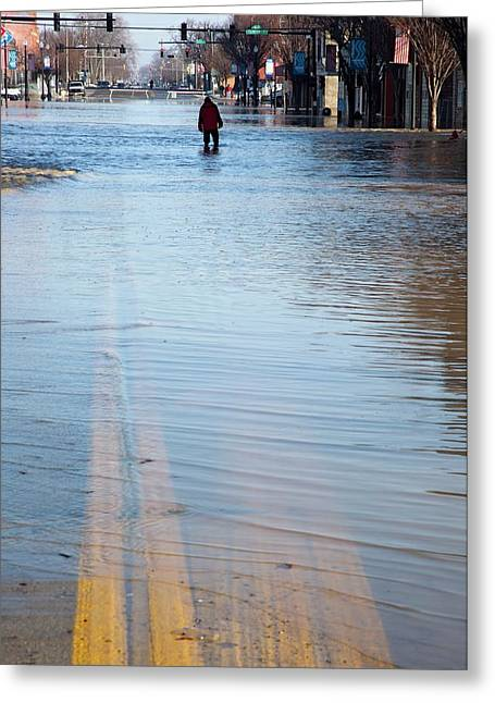 Flooded Street Greeting Card by Jim West