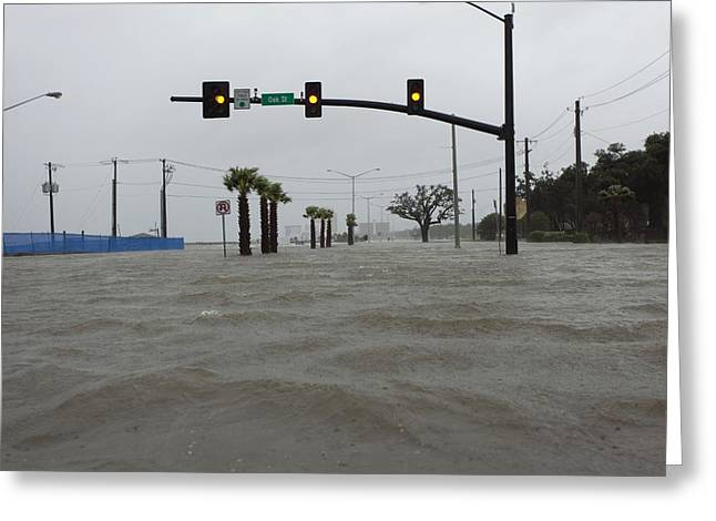 Flooding Greeting Cards - Flooding due to Hurricane Isaac Greeting Card by Science Photo Library