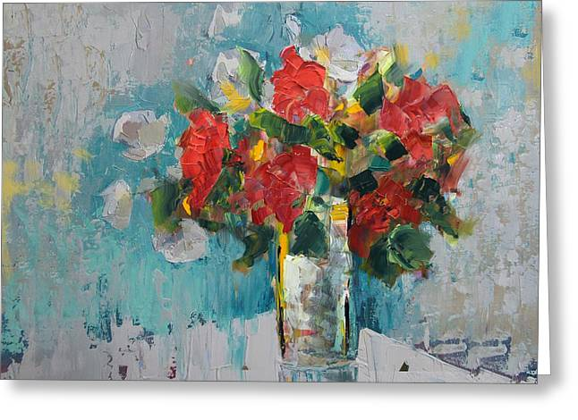 Lounge Paintings Greeting Cards - Floral 13 Greeting Card by Mahnoor Shah