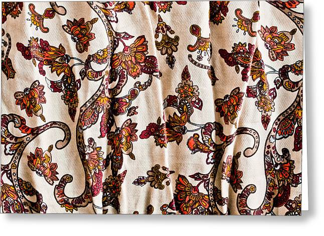 Wallpaper Tapestries Textiles Greeting Cards - Floral pattern Greeting Card by Tom Gowanlock