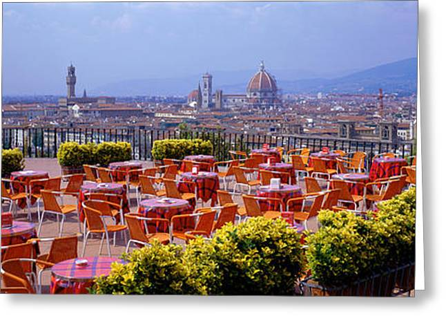 Open-air Greeting Cards - Florence, Italy Greeting Card by Panoramic Images