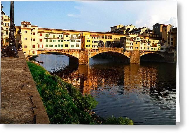 Florence Italy Ponte Vecchio Greeting Card by Irina Sztukowski
