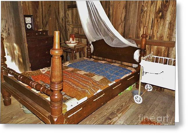 20th Greeting Cards - Florida Cracker Bedroom Greeting Card by D Hackett