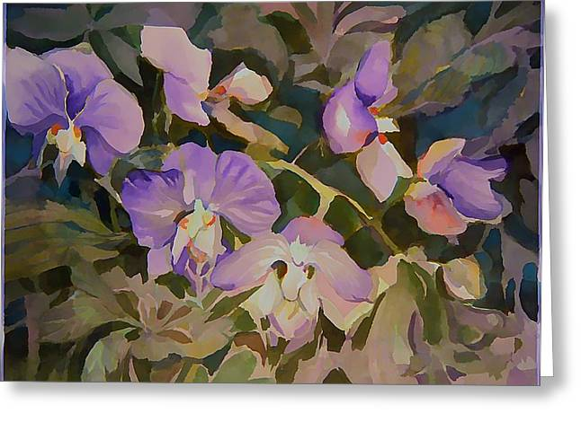 Florida Orchids Greeting Card by Mindy Newman
