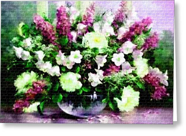 Cellphone Pastels Greeting Cards - Flower Bouquet Catus 1 no. 3 H a Greeting Card by Gert J Rheeders