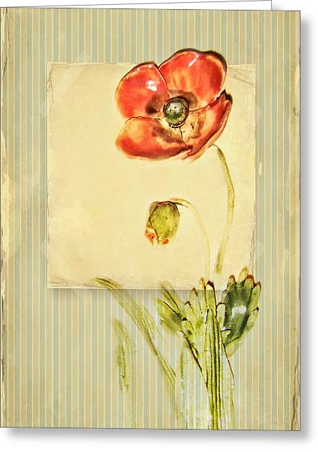 Blume Greeting Cards - Flower Greeting Card by Heike Hultsch