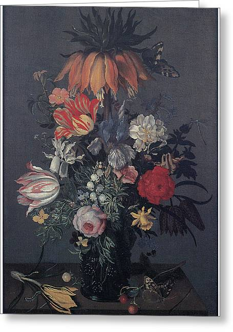 Master Piece Greeting Cards - Flower Piece Greeting Card by Johannes Bosschaert