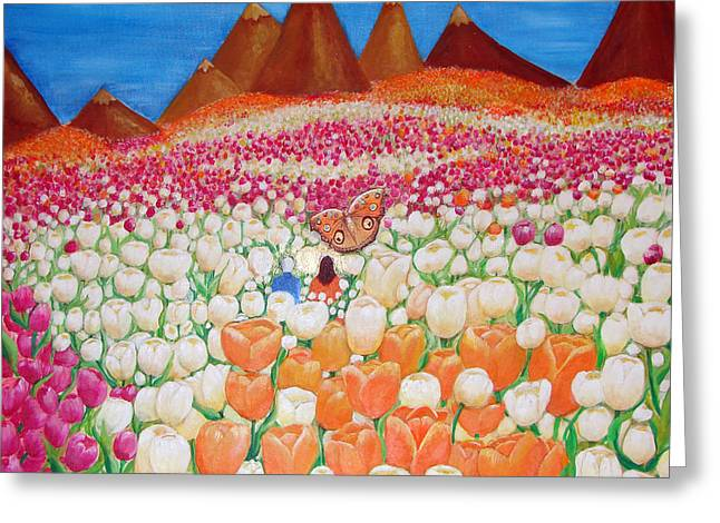 Realization Greeting Cards - Flowers and Fields Alive With Thy Joy Greeting Card by Ashleigh Dyan Bayer