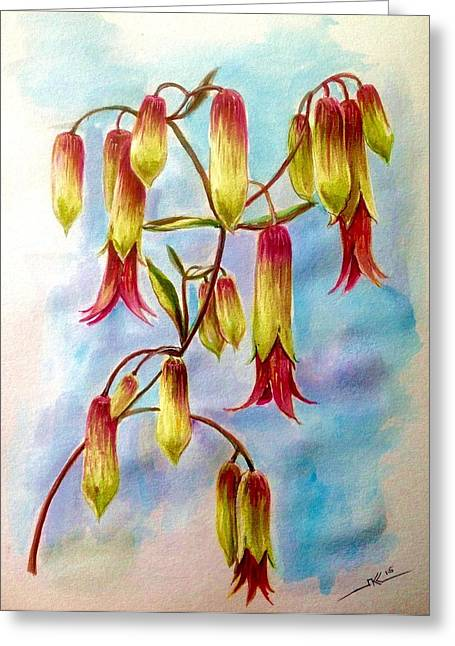 Flovers Greeting Cards - Flowers Greeting Card by Katerina Kovatcheva