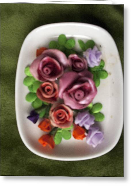 Mural Reliefs Greeting Cards - Flowers Greeting Card by Lena Levin