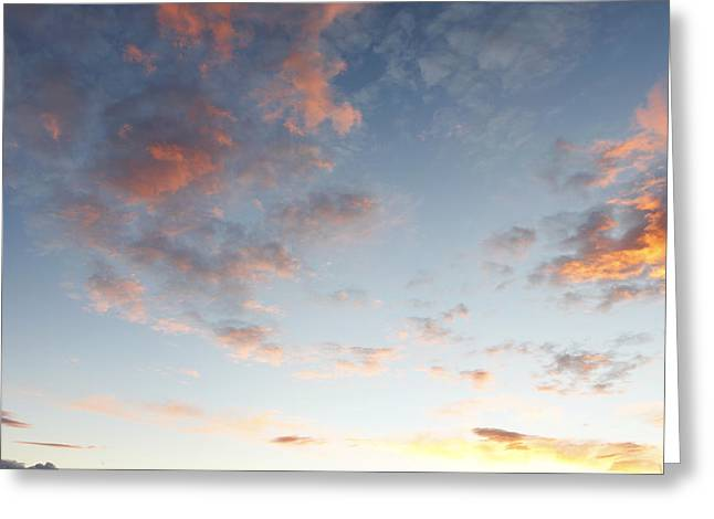 Fluffy Greeting Cards - Fluffy clouds Greeting Card by Les Cunliffe