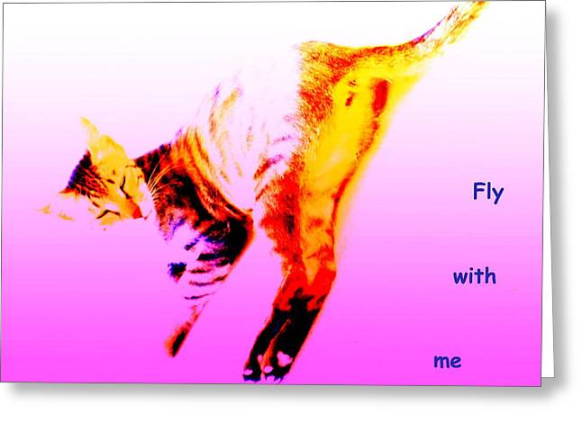 Nonverbal Communication Greeting Cards - Fly With Me Greeting Card by Hilde Widerberg