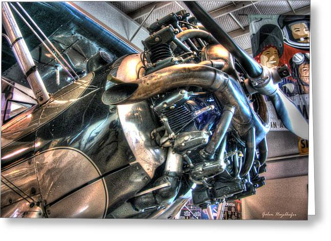 Airplane Engine Greeting Cards - Flyin High Greeting Card by Galen Hazelhofer