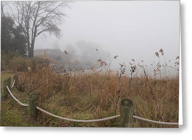 Mystery Pyrography Greeting Cards - Fog Mystery Greeting Card by Valia Bradshaw