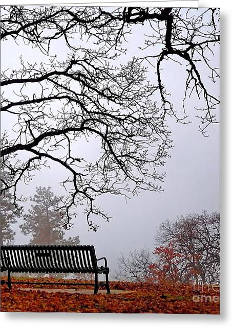 Overhang Greeting Cards - Foggy Day Greeting Card by   FLJohnson Photography