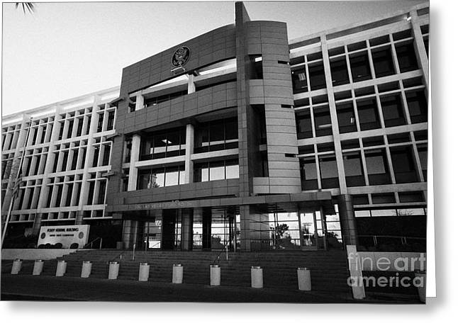 Bankruptcy Greeting Cards - foley federal building united states courthouse Las Vegas Nevada USA Greeting Card by Joe Fox
