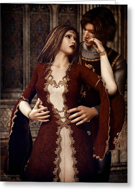 Guinevere Digital Greeting Cards - Forbidden Greeting Card by Lizzie Prusaczyk