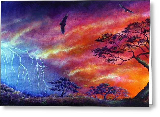 Rainbow Greeting Cards - Force of Nature Greeting Card by Ann Marie Bone