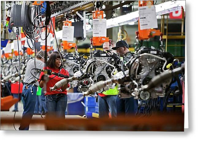 Ford Focus Assembly Line Greeting Card by Jim West