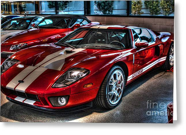 Yorba Greeting Cards - Ford GT-40 Greeting Card by Tommy Anderson