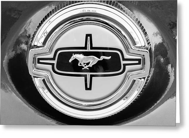 Ford Mustang Gas Cap Greeting Card by Jill Reger