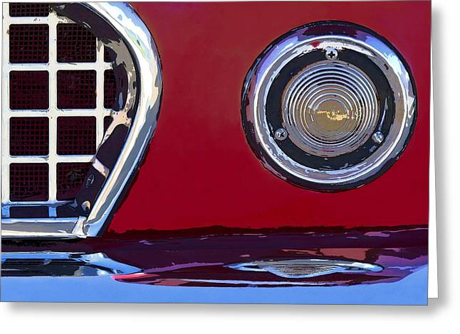 Decor Collection Greeting Cards - Ford Thunderbird Greeting Card by Elena Nosyreva