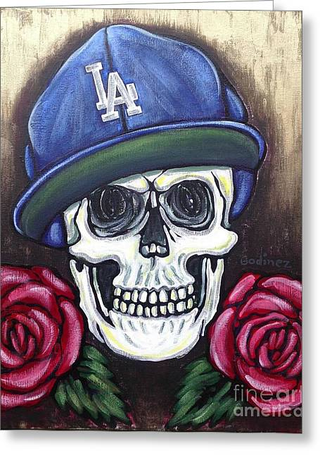 Sportsart Greeting Cards - Forever L.A Greeting Card by Ivan Godinez