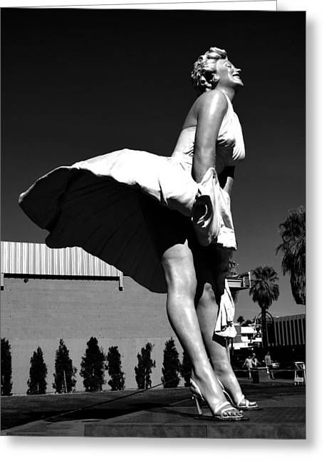 Sculpture Photographs Greeting Cards - Forever Marilyn Greeting Card by Art K