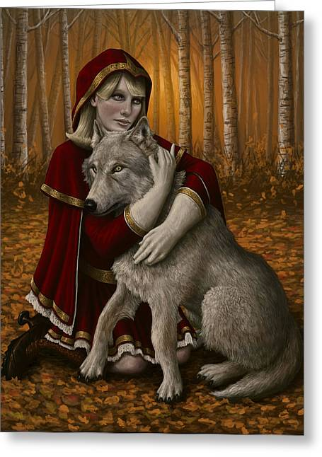 Wolves Digital Greeting Cards - Forgiveness Greeting Card by Mark Zelmer
