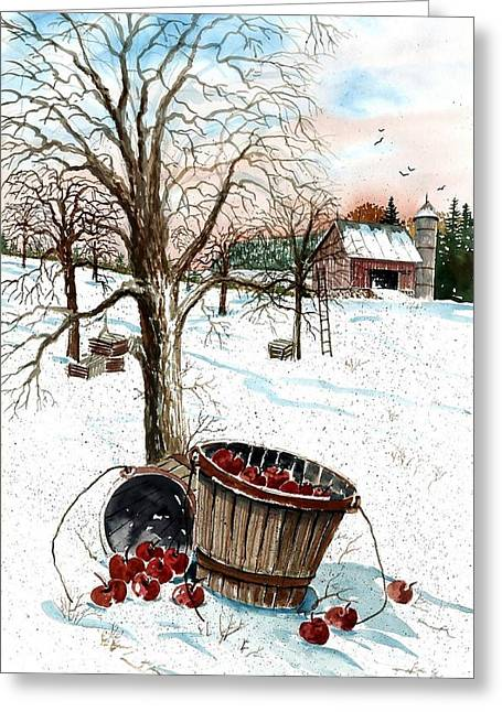 Apple Picking Greeting Cards - Forgotten Apples Greeting Card by Steven Schultz