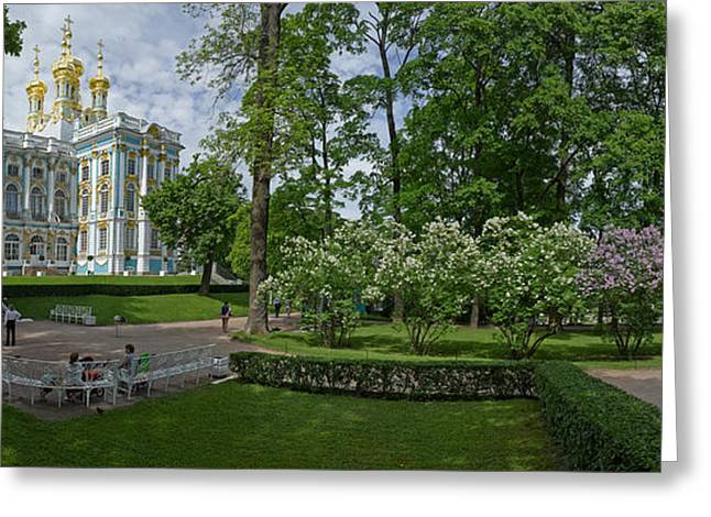 Catherine Greeting Cards - Formal Garden In Front Of The Palace Greeting Card by Panoramic Images