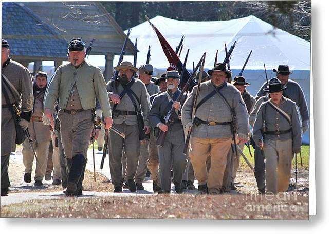 Confederate Army At Fort Anderson  Greeting Card by Jocelyn Stephenson