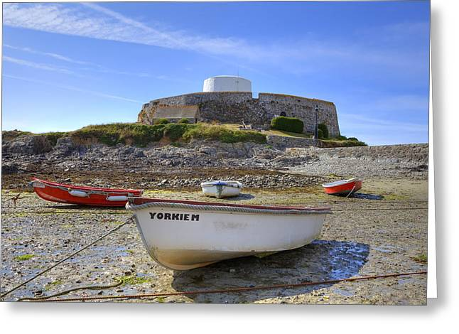 Guernsey Greeting Cards - Fort Grey - Guernsey Greeting Card by Joana Kruse