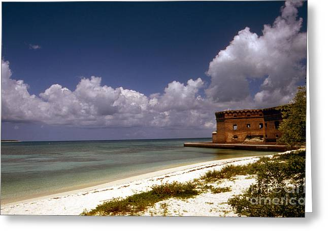 Dry Tortugas Greeting Cards - Fort Jefferson  Greeting Card by Skip Willits