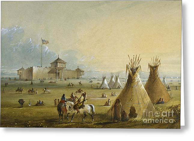 Pop Art Greeting Cards - Fort Laramie Greeting Card by Celestial Images