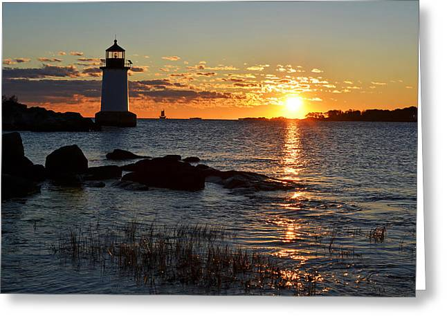 Oxford. Oxford Ma. Massachusetts Greeting Cards - Fort Pickering Lighthouse Winter Island Salem MA Sunrise Greeting Card by Toby McGuire