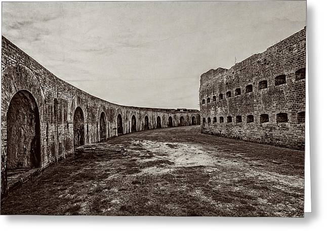 Civil War Site Greeting Cards - Fort Pike parade ground Greeting Card by Andy Crawford