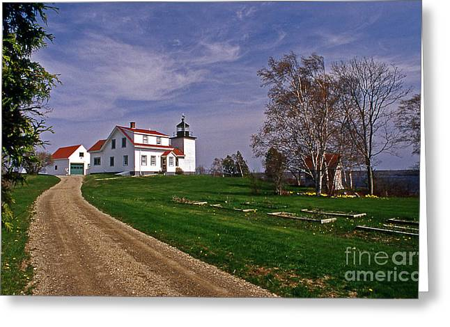 Ocean Art. Beach Decor Greeting Cards - Fort Point Lighthouse Greeting Card by Skip Willits