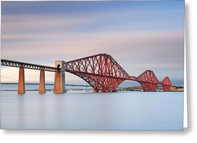 Bridge Framed Prints Greeting Cards - Forth Railway Bridge Greeting Card by Grant Glendinning