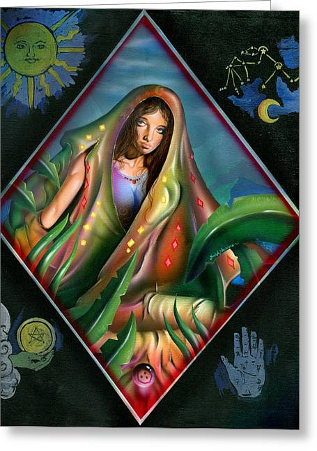 Gypsy Greeting Cards - Fortune teller Greeting Card by Luis  Navarro