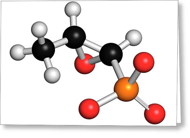 Fosfomycin Antibacterial Drug Molecule Greeting Card by Molekuul