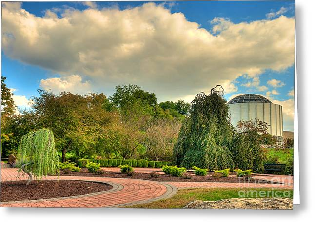 Mhs Greeting Cards - Founders Hall from the Garden Greeting Card by Mark Dodd