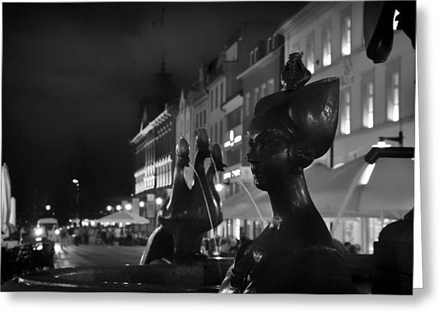 Egyptian Art Greeting Cards - Fountain in Konstanz Germany Greeting Card by Mountain Dreams