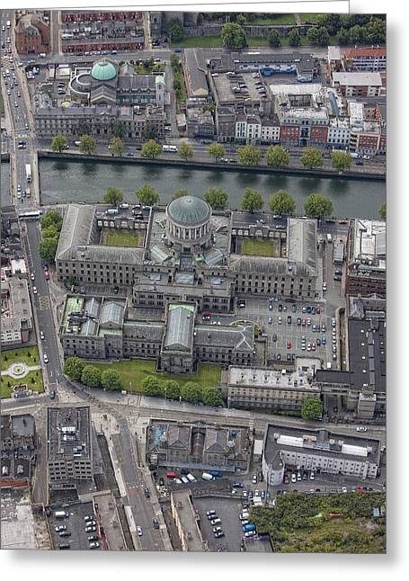 Centre Court Greeting Cards - Four Courts, Dublin Greeting Card by Colin Bailie