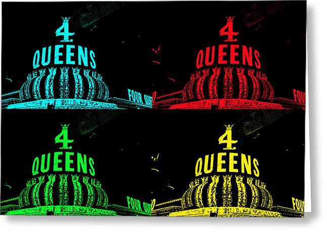Fabulous Four Greeting Cards - Four Queens Greeting Card by Michael Anthony