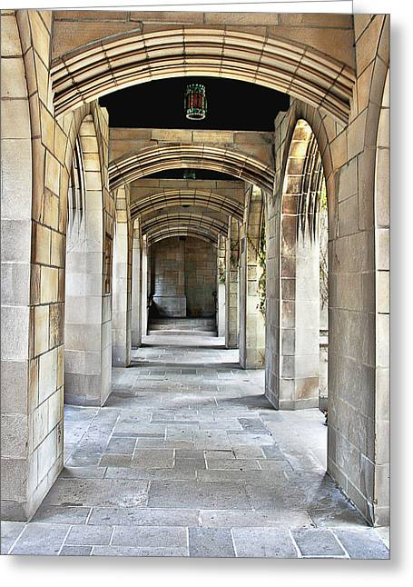 Patio Greeting Cards - Fourth Presbyterian Church Chicago Greeting Card by Christine Till